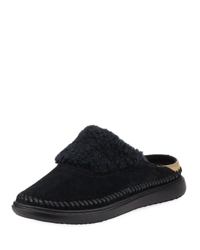 2.ZeroGrand Convertible Suede Slipper Mules, Black