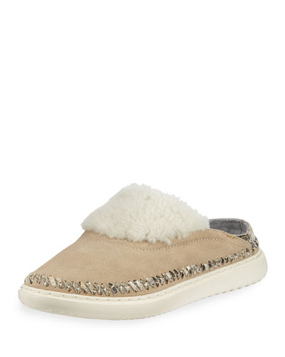 2.ZeroGrand Convertible Suede Slipper Mules, Warm Sand