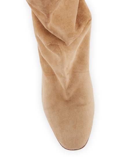Booties Slouchy Scrunch Suede Booties