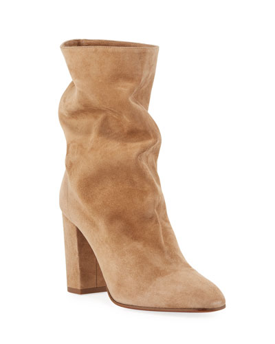 Bootie Slouchy Scrunch Suede Bootie