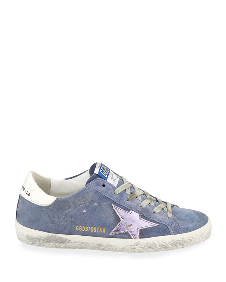 Superstar Suede Platform Low-Top Sneaker with Leather Star