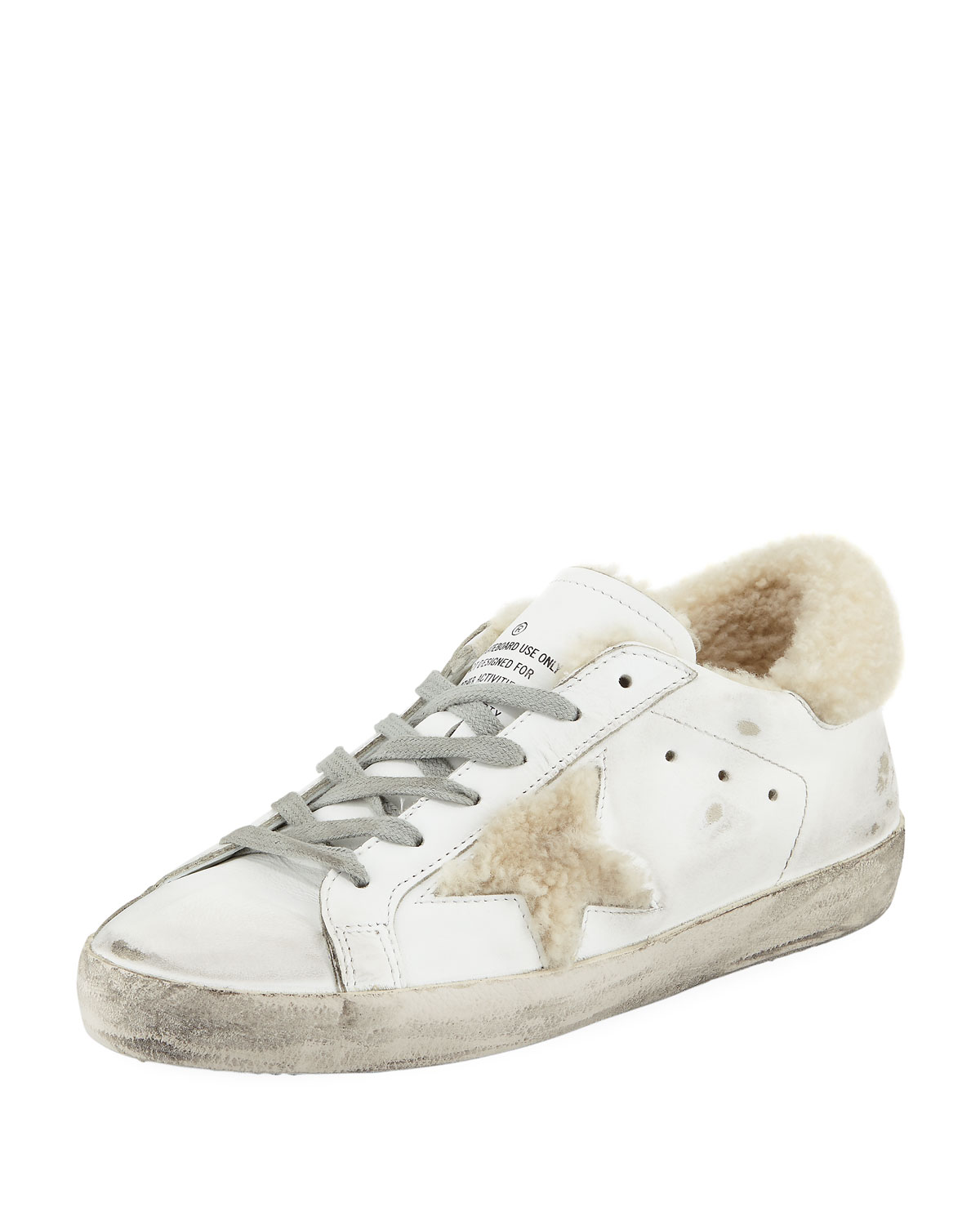the best attitude 50ad7 a2e93 Golden Goose Superstar Leather Platform Low-Top Sneakers with Fur