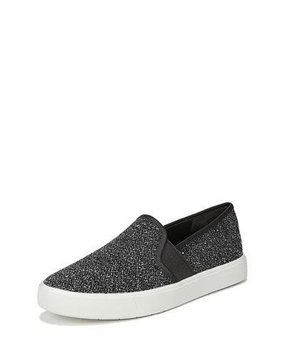 Blair-5 Tweed Slip-On Skate Sneakers