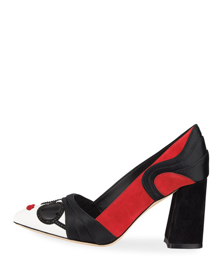 Dinorah StaceFace Block-Heel Pumps