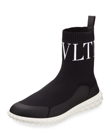 Valentino Garavani VLTN Stretch-Sock Sneakers