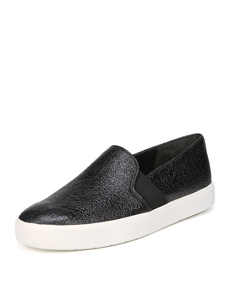 Women'S Blair-12 Patent Leather Slip-On Sneakers, Black Leather