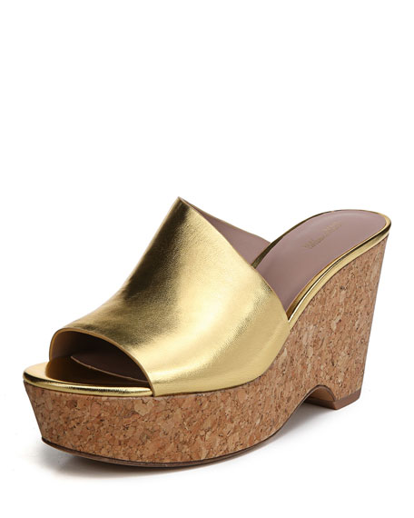 Bonnie Metallic Wedge Sandal