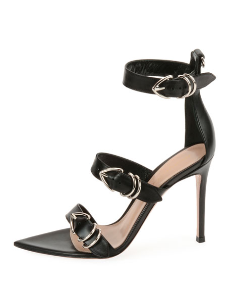 Leather Belted High Sandal