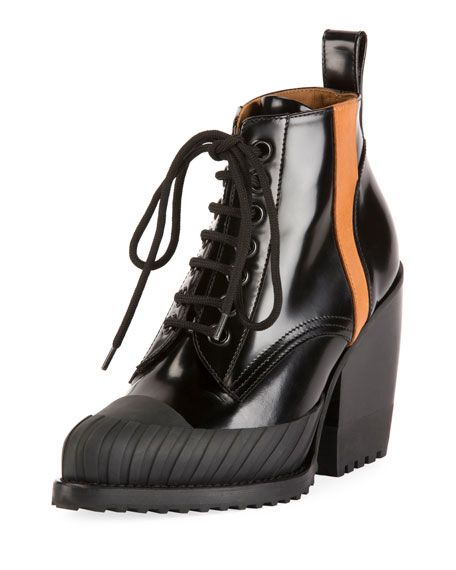 Rylee Block-Heel Lace-Up Combat Boot