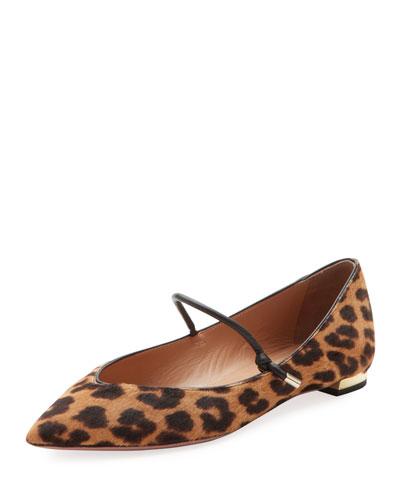 Stylist Leopard-Print Ballet Flats