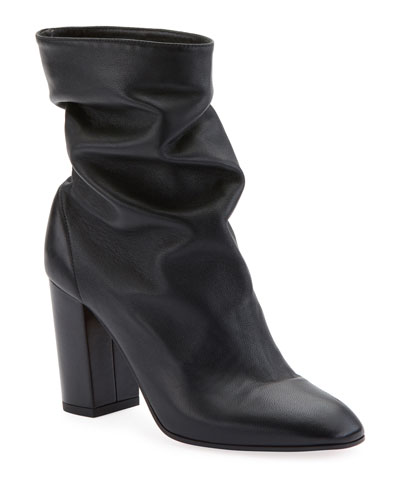 Boogie Scrunch Leather Bootie