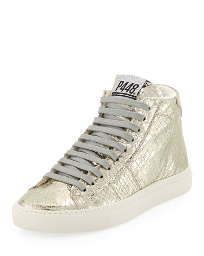 Star Python-Print High-Top Sneakers