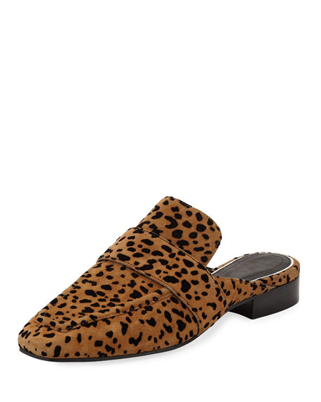 Rag & Bone Aslen Cheetah-Print Suede Loafer Mules
