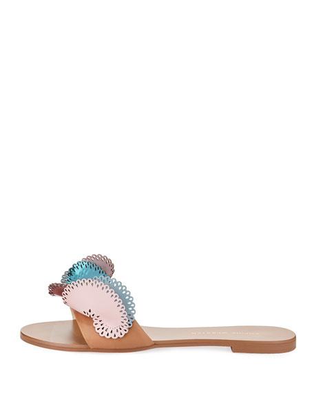 Soleil Embellished Calf Leather Slide Sandal