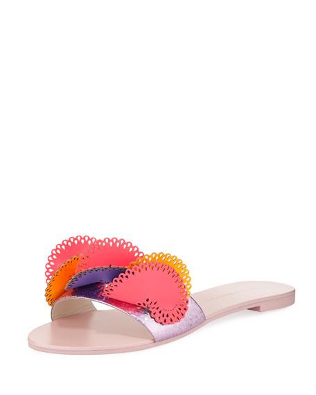 Sophia Webster Soleil Embellished Glitter Slide Sandal