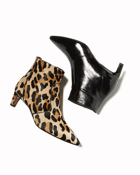 Marilisa Leopard-Print Calf Hair Bootie