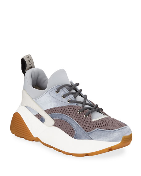 Eclipse Mixed-Media Trainer Sneaker