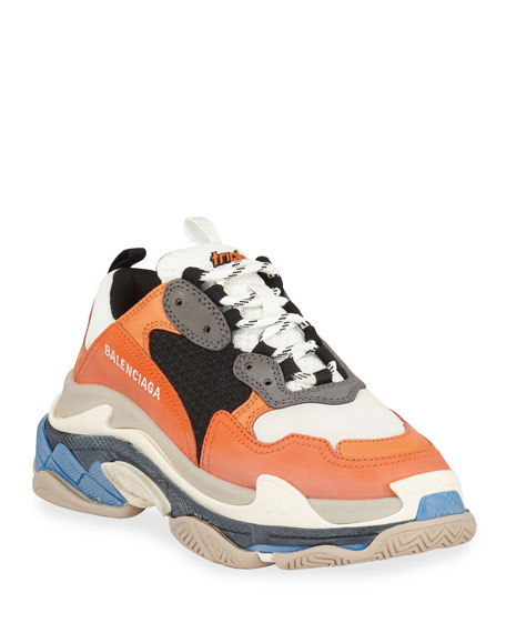 Balenciaga Triple S Mesh & Leather Trainer Sneaker