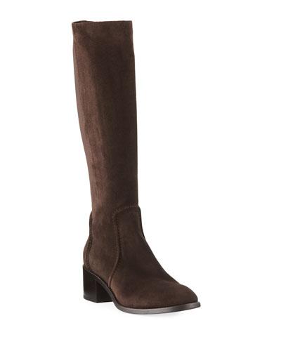 Jordan Suede Knee-High Boots