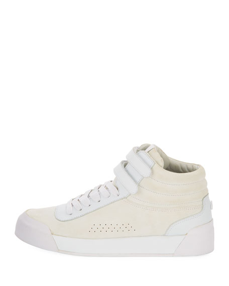 Nova Mixed Leather Platform Sneakers