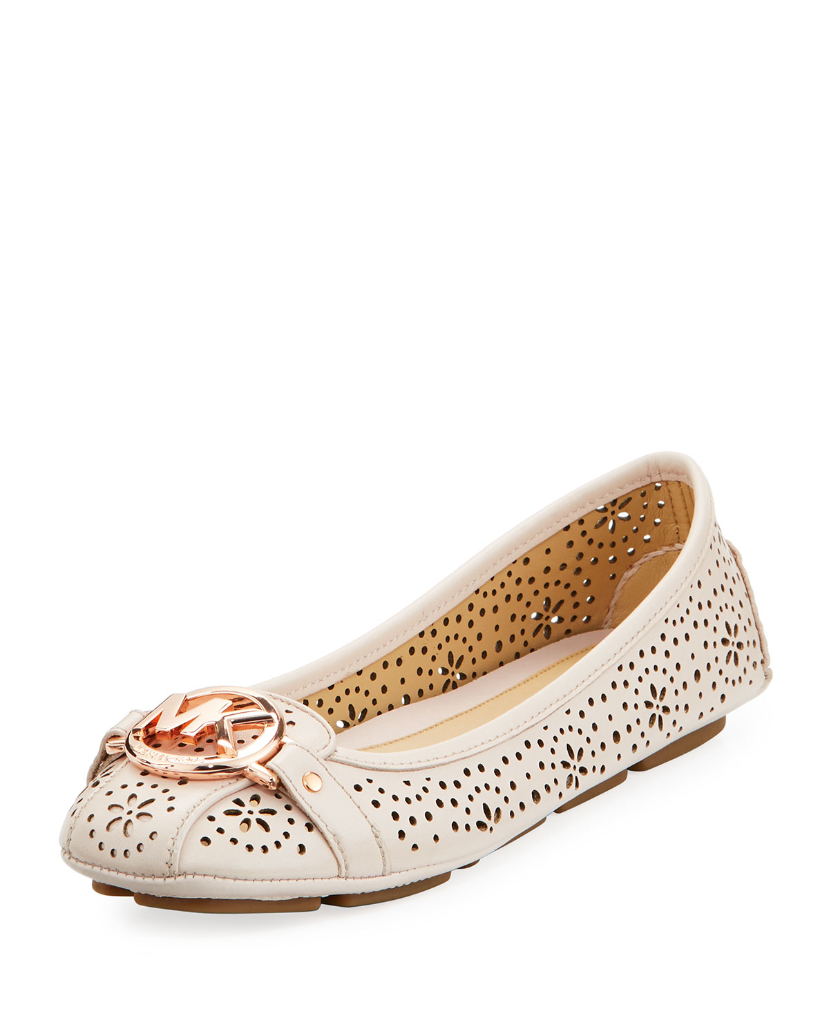 eaf975aac3aa MICHAEL Michael Kors Fulton Perforated Leather Logo Moccasin ...