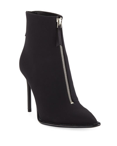 Eri Nylon Diamante Booties