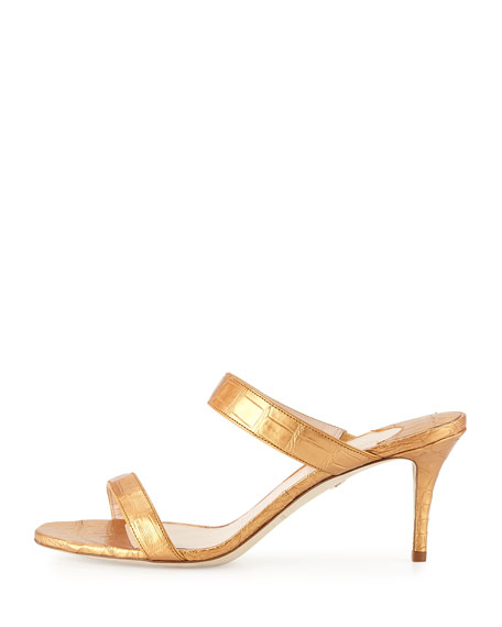Maria Crocodile 70mm Slide Sandals