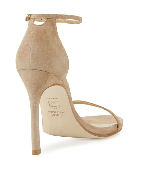 Nudistsong Suede Ankle-Wrap Sandal
