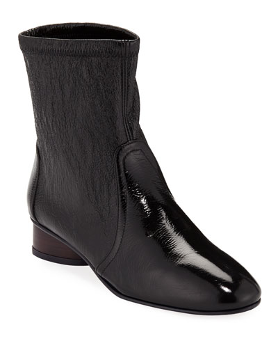 Quebec Crinkled Leather Bootie