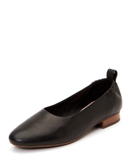 Taryn Rose Bess Leather Ballet Flats with Contoured