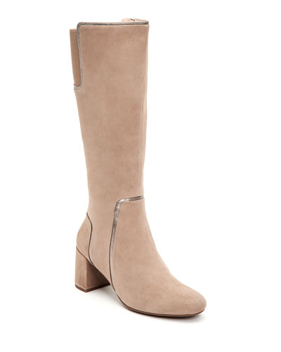 Charlee Suede Knee Boots