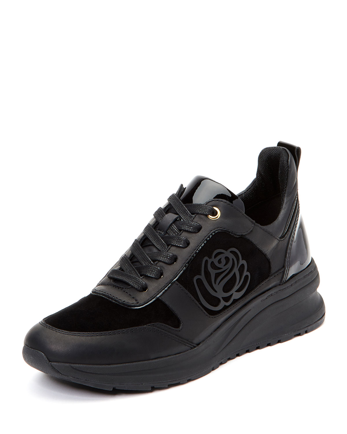 5db03c48bcb3 Taryn Rose Zadie Chunky-Sole Leather Trainer Sneakers