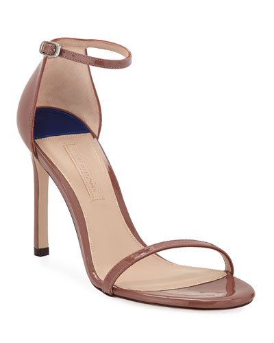 Nudistsong Patent Strappy Sandals