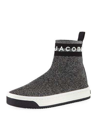 Dart Metallic Platform Sock Sneakers