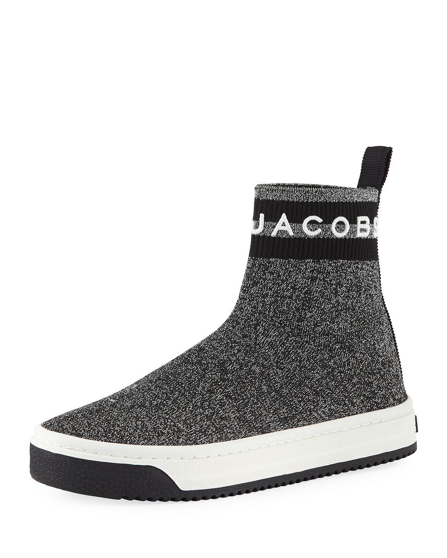 Marc Jacobs Dart Metallic Platform Sock