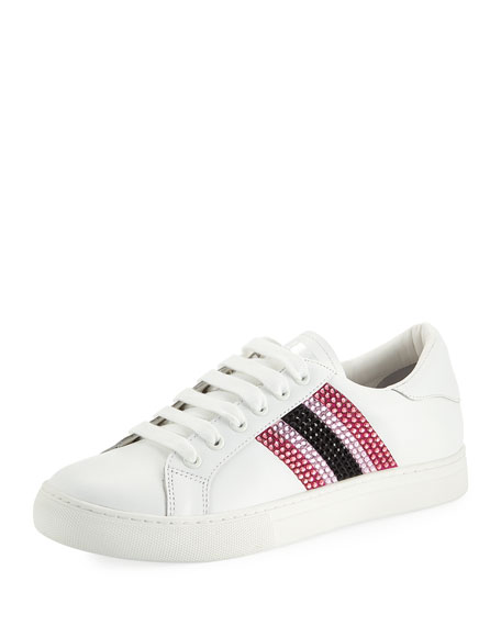 Empire Embellished Leather Low-Top Sneakers