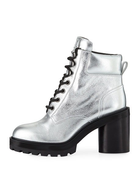 Crosby Metallic Leather Hiking Boots