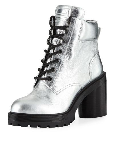 Crosby Metallic Leather Hiking Boots