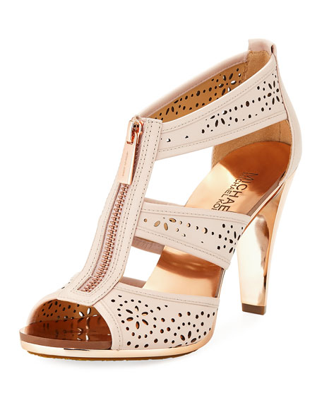 Berkley Perforated T-Strap Zip Sandal