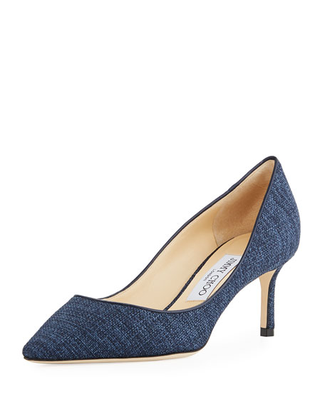 Jimmy Choo Romy 60mm Canvas Pump