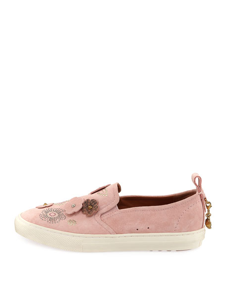 Tea Rose Slip-On Suede Sneakers