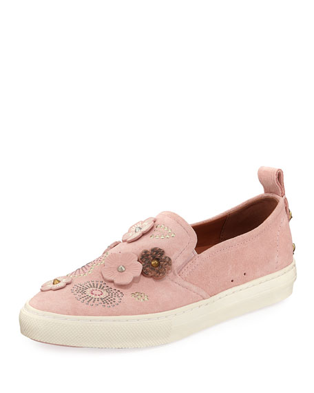 Coach Tea Rose Slip-On Suede Sneakers