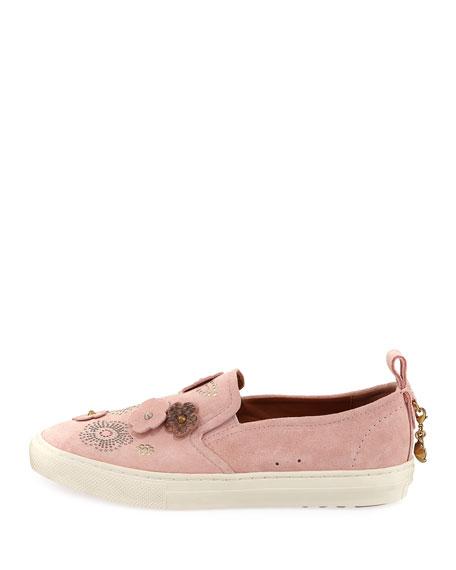 Tea Rose Slip-On Suede Sneaker