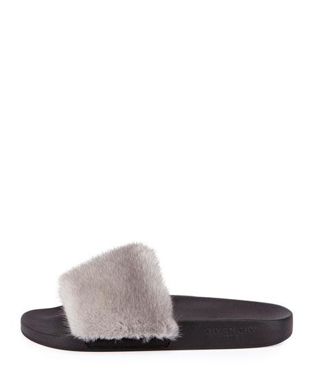 Mink Fur Slide Sandal