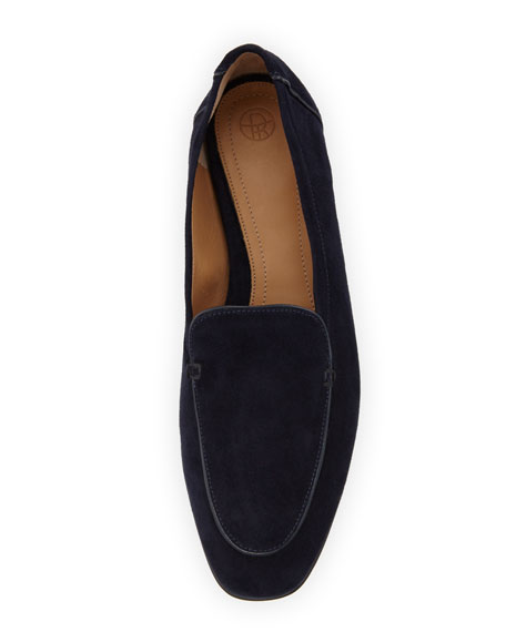 Alin Suede Loafer, Navy Blue
