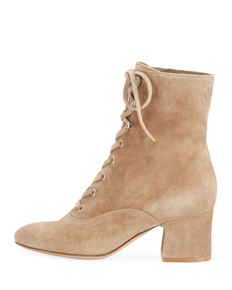 Mackay Suede Lace-Up 60mm Booties