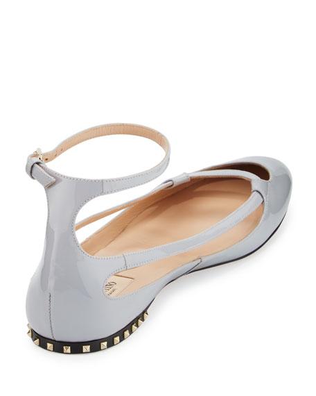 Stardust Babe Patent Ballet Rockstud Flats
