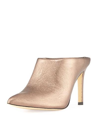 Alinie Metallic Slide Mules
