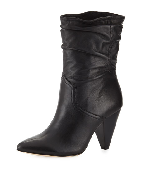 Gabbissy Slouchy Leather Mid-Calf Boots