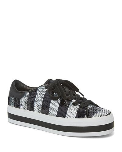 Ezra Sequin StaceFace Platform Sneakers